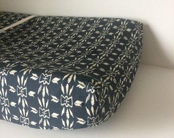 Navy Crib Bedding - Blue Navy Fitted Crib Sheet - Changing Pad Covers -Mini Crib Sheets -Tribal Nursery Bedding Aztec Crib Bedding