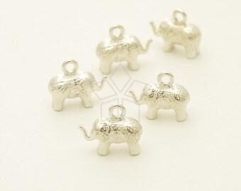 SV-133-SS / 1 Pcs - Silver Elephant Pendant, Baby Elephant Charm, Animal Charm, 925 Sterling Silver / 10.8mm x 9mm