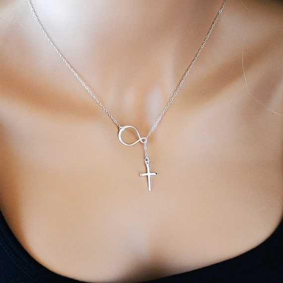 favtaa necklace cross hunt the or infinity filled sterling and gold on personalized
