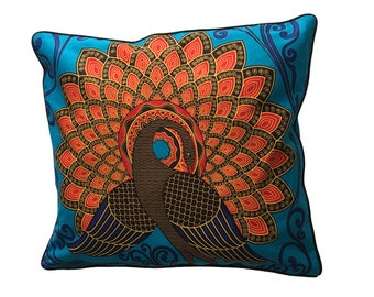 Peacock 60 x 60 pillow cover
