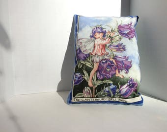 Lavender Dream Pillow, Canterbury Bell Flower Fairy and Blue Roses.