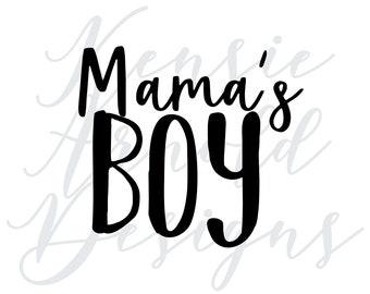 Mama's Boy Monogram Addition for Dog Bandana - Matte, Glitter & HOLO Options