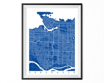 Vancouver map etsy more colors vancouver map gumiabroncs Image collections