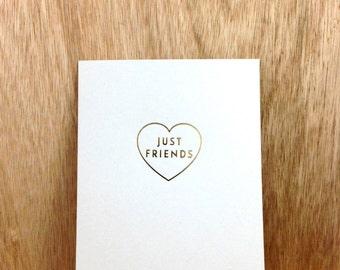 just friends (gold foil card)