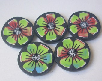 Handcrafted - clay - 2 cm - creation in the garden secrets (x 1) button - buttons