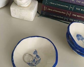 Porcelain Flower Dish