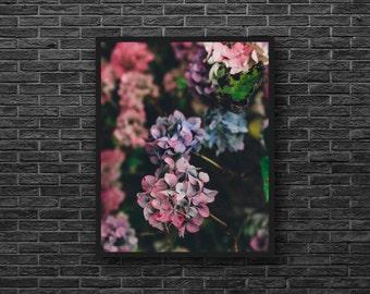 Purple Flowers Photo - Flowers Photo Print - Purple - Botanical - Vertical - Paper Photo Print - Flower Wall Art - Flower Wall Decor