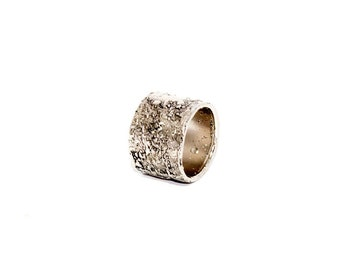 Women's ring in bronze plated Palladium tribute collection to Jackson Pollock-Arlo Haisek, made in Italy