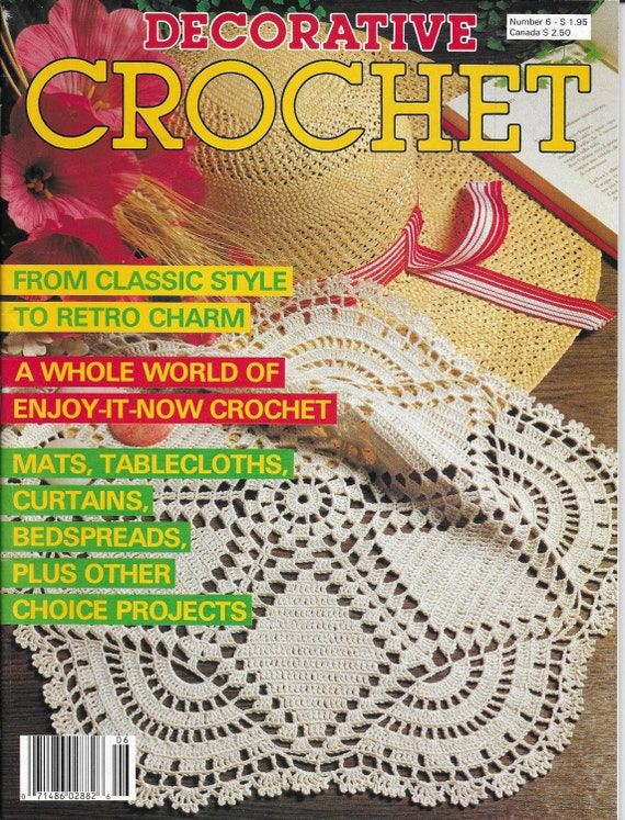 Reserved Vintage Decorative Crochet Magazine Back Issue November