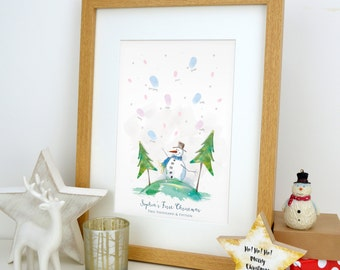 The Snowman- First Christmas Fingerprint Keepsake