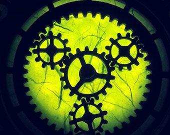 Steampunk lantern - Steampunk accessory -Cosplay costume -  Wear  Belts & Corsets - Moving Gears -  Geek Gift - Korset - Cadeau - Noel