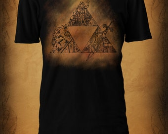 Legend of Zelda - Steampunk Triforce Tshirt