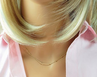 Thin Gold Chain, Choker Necklace, Plain Chain Necklace, Thin Gold Choker, Rose Gold Thin Chain, Minimal Dainty Jewelry, Top Selling Shop