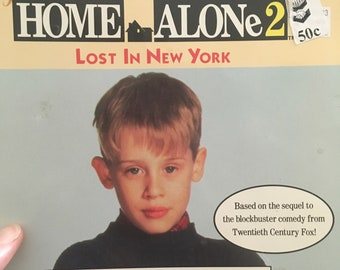 Home Alone 2 Book - 1992 - Lost in New York - Ex Library - Thrift Store Resale