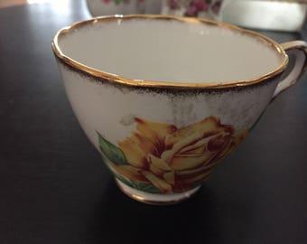 Collingwoods - Bone China Teacup - Golden Rose - Mint