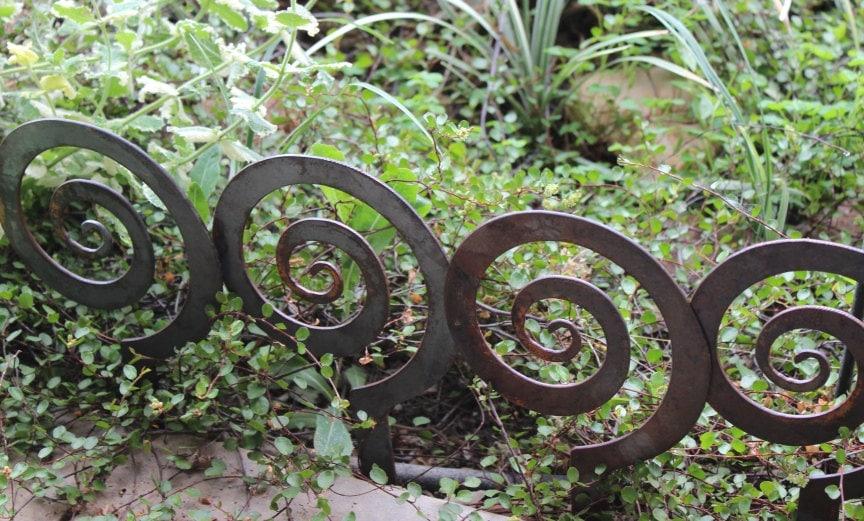 5.5 Alternate Spiral Garden Stake Steel Garden decor