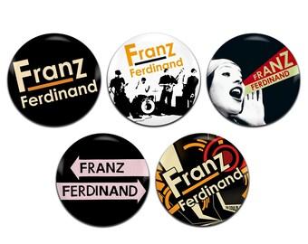 5x Franz Ferdinand Indie Rock Band 25mm / 1 Inch D Pin Button Badges