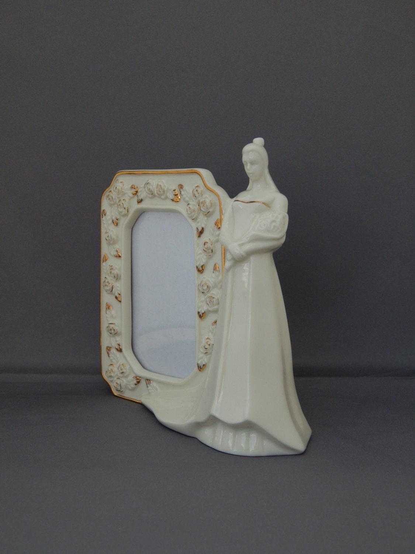 MIKASA Bridal Frame Wedding Bells, Ivory White Porcelain Picture ...