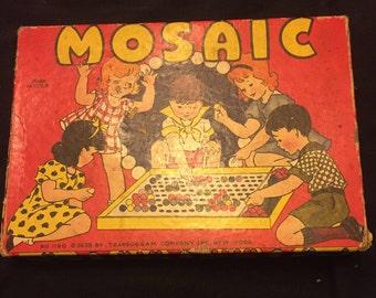 Vintage Transogram Mosaic Game