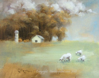 Peaceable Pasture...Original Oil Painting by Maresa Lilley, SND