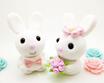 Bunny couple wedding cake toppers*