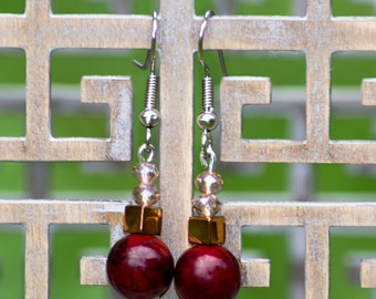 Golden Apple - Dangle Earrings