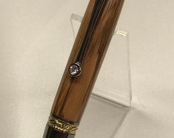Authentic Bethlehem Olive Wood Twist Pen