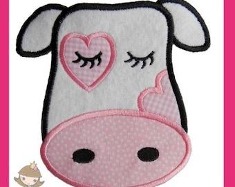 No dise o de ni a vaca apliques bordado de m quina 0507 - Apliques de diseno ...