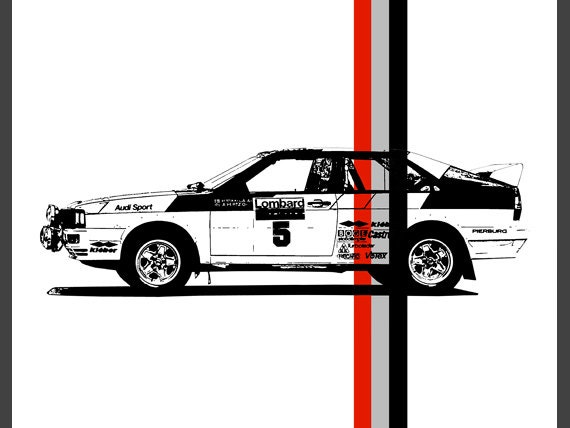 Audi Poster Audi Quattro Garage Decor Rally Car - Audi car garage