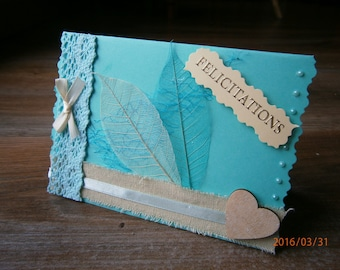 For birth congratulations card: smooth blue...