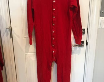 Vintage Mens Duofold Two Layer Long Underware Red Union Suit