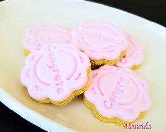Handmade Fake Cookies Set of 5 Faux Cookies Congrats Cookie Photography Prop Fake Cookie Faux Cookie
