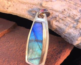Handmade Spectrolite Pendant