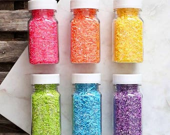 Sprinklefetti Sparkle Rainbow Sprinkles Set, Rainbow Sprinkle Mixes, Cookie Sprinkles, Cake Sprinkles, Ranbow Party Sprinkles