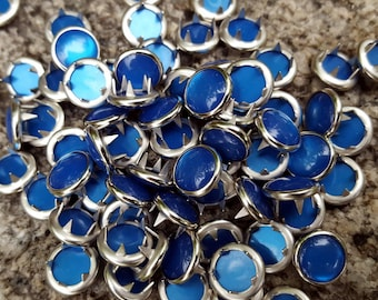 Royal Blue Pearl Snaps, Pearl Snap Fasteners, 12 mm Pearl Snaps