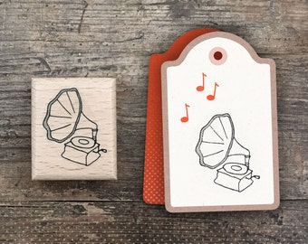 Gramophone Rubber Stamp