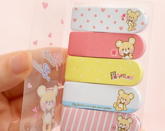 Sticky memo tabs / Sticky notes / post-its booklet - cute bear