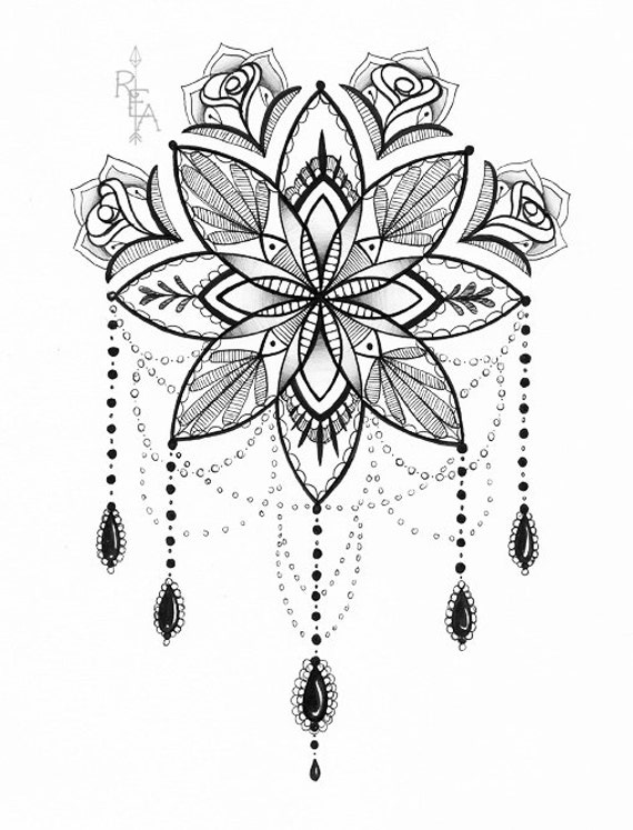 Extreem Mandala Illustration Tattoo Art Pen en inkt tekenen 5 x @RA71