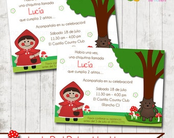 Little Red Riding Hood Invitations