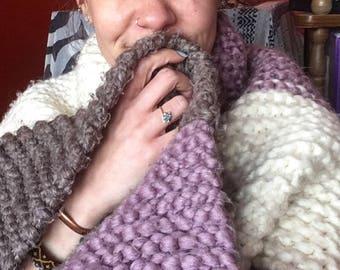 Oversized blanket shawl
