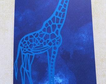 Three African Inspired Handmade Greeting Cards Set 8