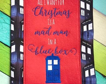Doctor Who Inspired Christmas Embroidery Design File Set