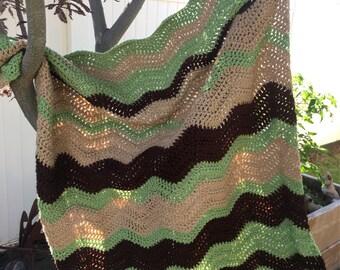 Yoda Inspired Crochet Baby Blanket
