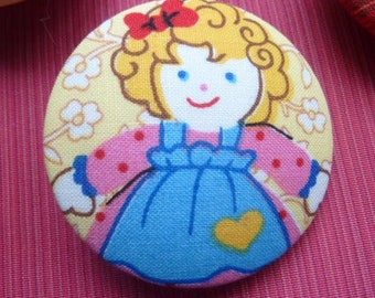 button fabric girl color * 5 cm *.