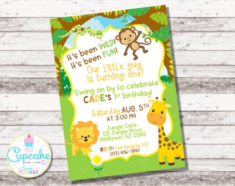 Jungle Birthday Invitation | Any Age | Safari Birthday Invite | Zoo Birthday Invite | Animal Party | Jungle Party | Boy's Birthday | Digital