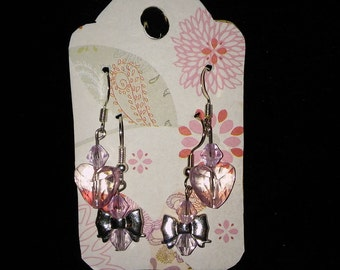 Hearts and Bows Earring Set
