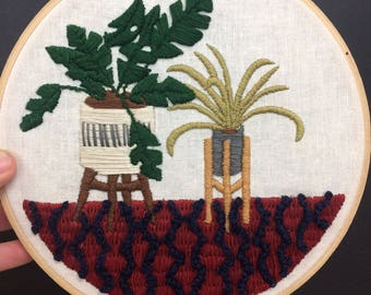 Potted Plant Embroidery