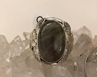 Abstract Labradorite Ring Size 9