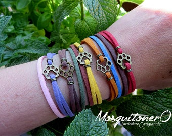 Bracelet woman leather paw dog cat, doggy Kitty, paw bracelet, leather bracelet, animal bracelet, Zampetta