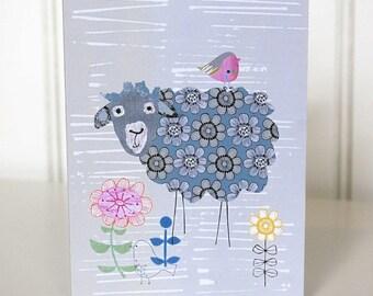 Sheep Card. The Sheep Botherer. Greeting Card